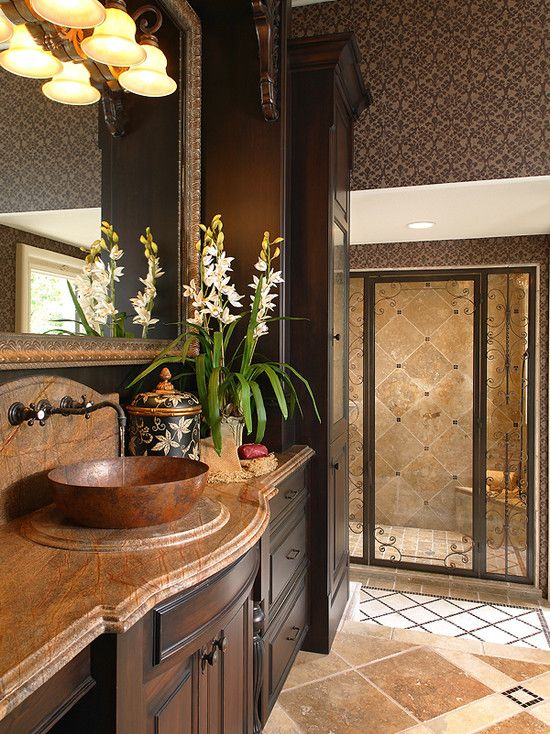 mediterranean bathroom design home decor pinterest