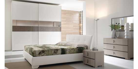 Camera da letto moderna in legno - Gruppo notte caratterizzato da ...
