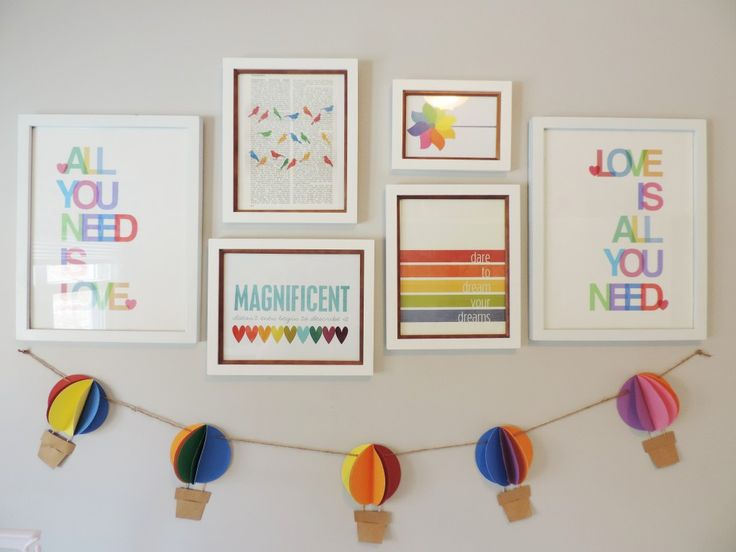 {Gallery Wall Inspiration from Project Nursery} - We think gallery walls make such an impact in a room and can help bring out a theme or personality! #Nursery #Gallerywall