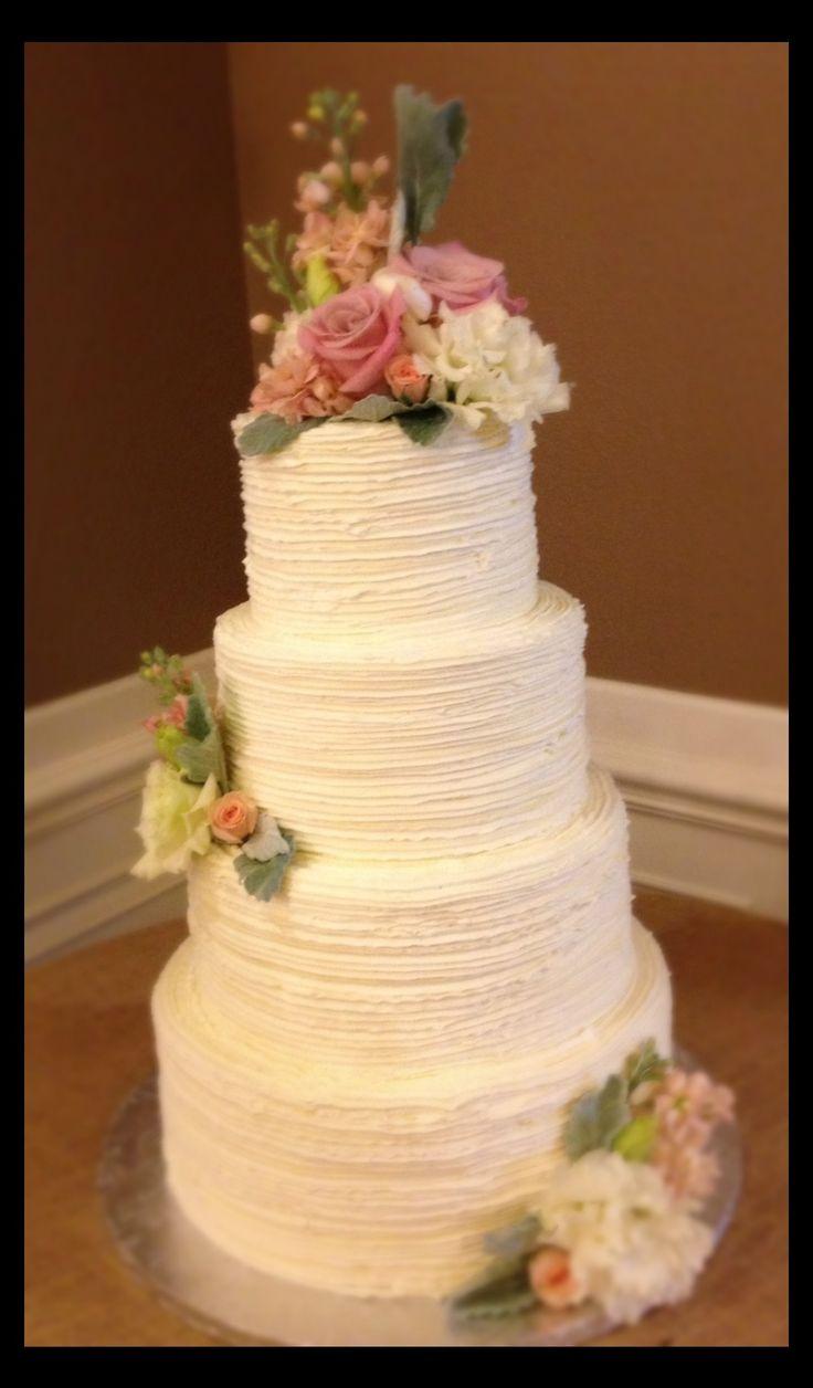 ... and sage buttercream wedding cake | Buttercream Wedding Cakes