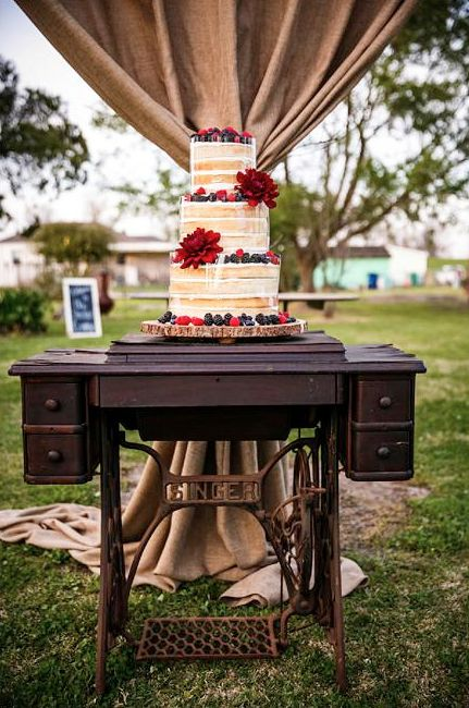 cake stand with fresh naked cake wedding inspiration our backyard