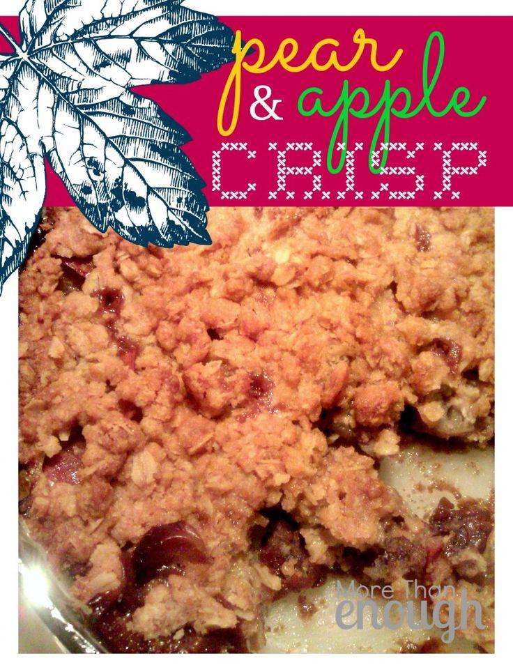 Pear apple crisp | Favorite Recipes | Pinterest