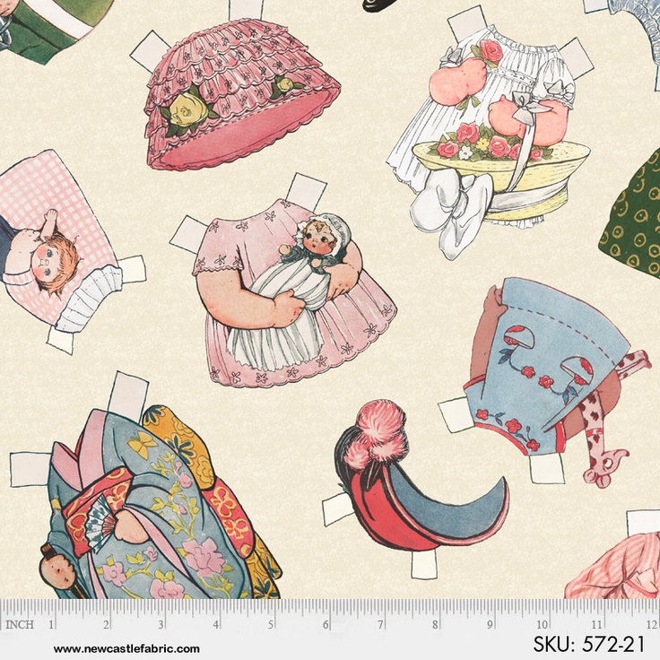 paper doll fabric A better paper doll: angela yosten's flats angela expanded upon her original idea with flats, a new fabric line that includes panels printed with dolls and.