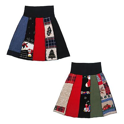 tacky Christmas sweater skirt! | Holiday LOVE: Needed This Board. | P