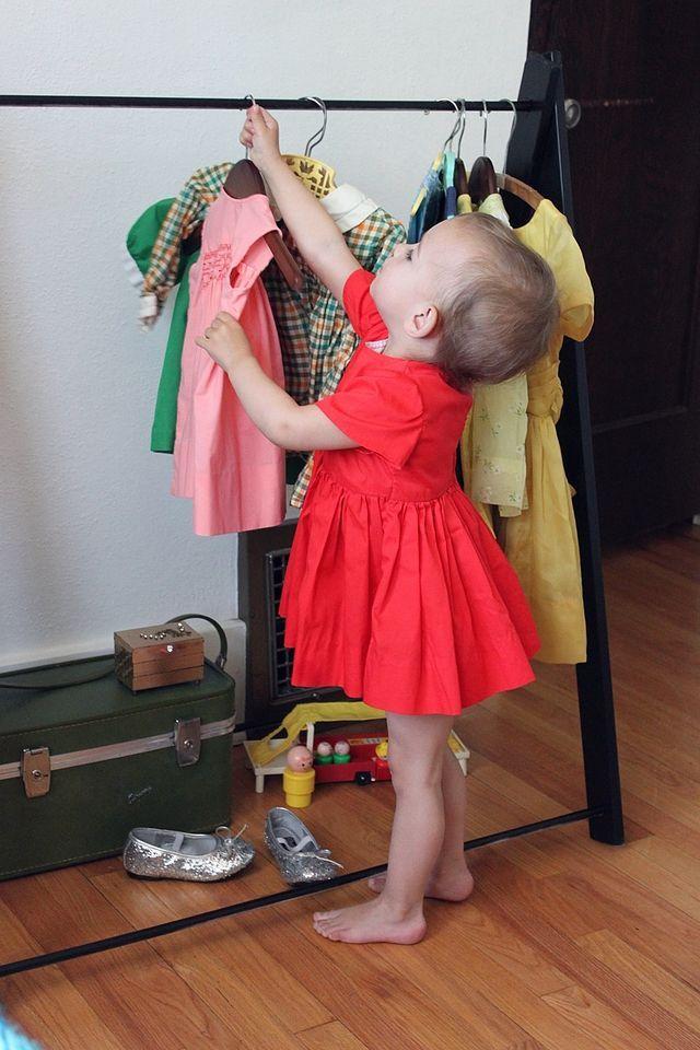 DIY garment rack for little ones.