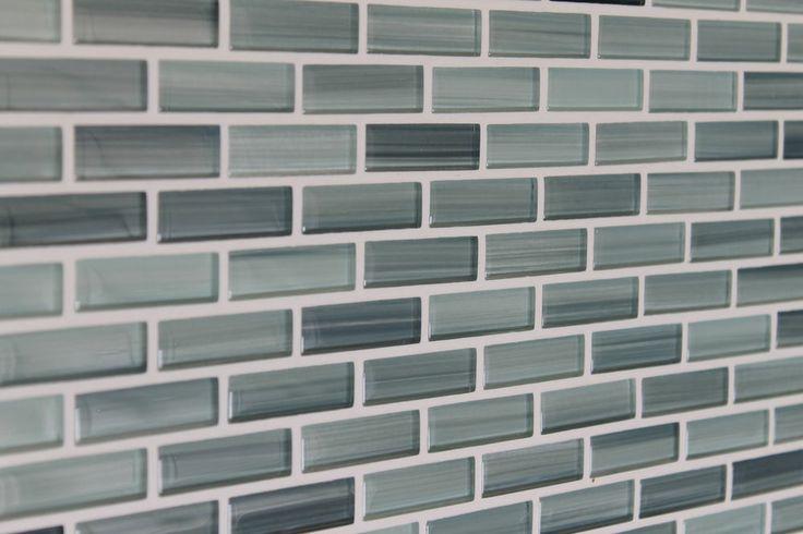 blue gray white subway glass mosaic tile kitchen backsplash bathroom