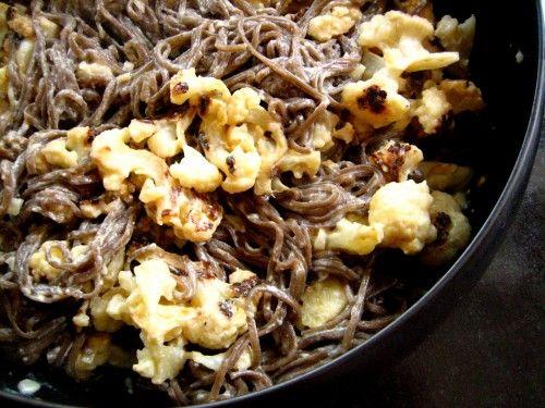 Garlic and Cauliflower Soba Noodles | Yummies | Pinterest