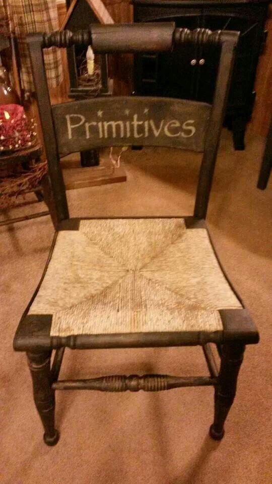 Chair! | Primitive Decor | Pinterest