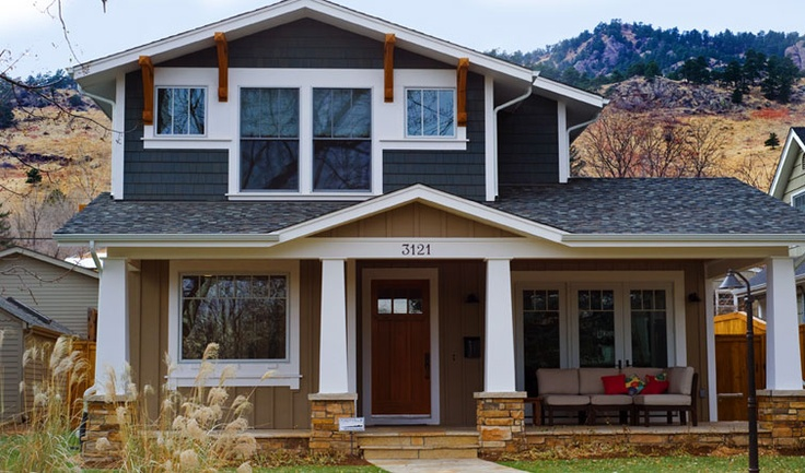 Two Story Craftsman Style Exterior Pinterest