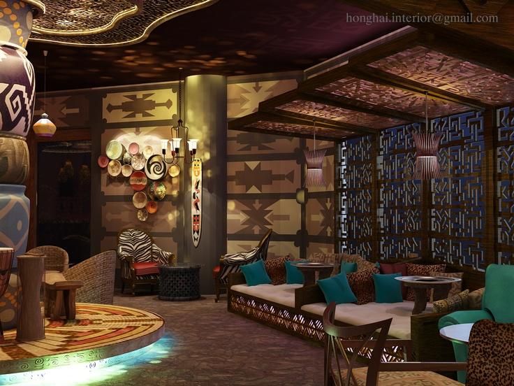 Idea for africa cafe bar dsmax design