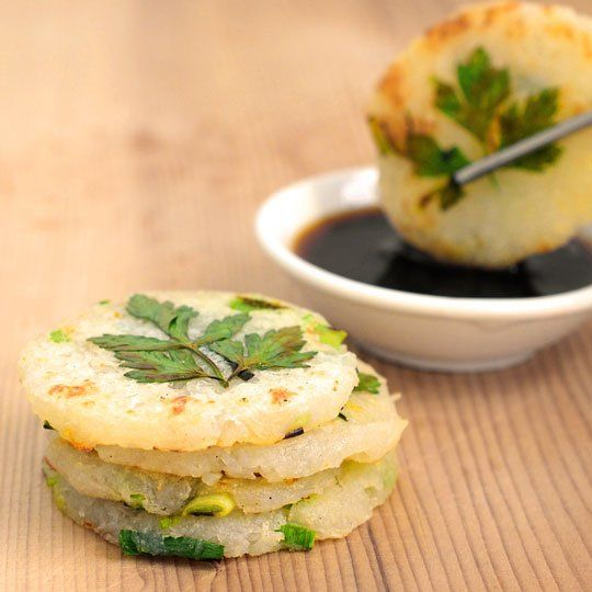 Mini Potato Pancakes with Green Garlic and Chives | Recipe