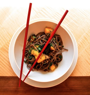Healthy Like This: Soba Noodles with Eggplant and Mango