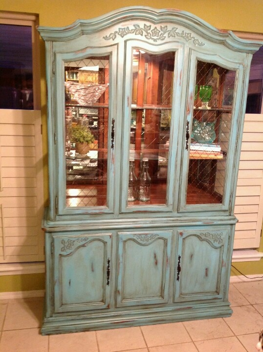 my shabby chic china cabinet project ideas for the dining room p. Black Bedroom Furniture Sets. Home Design Ideas