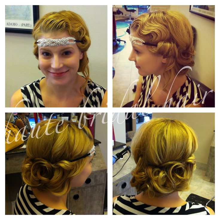 1920s Hairstyles Updo Updo, 1920's, retro, vintage,
