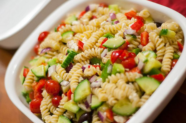 super quick and easy greek pasta salad | Salads | Pinterest