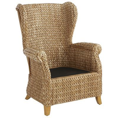 Rattan Graciosa Wing Chair Seagrass