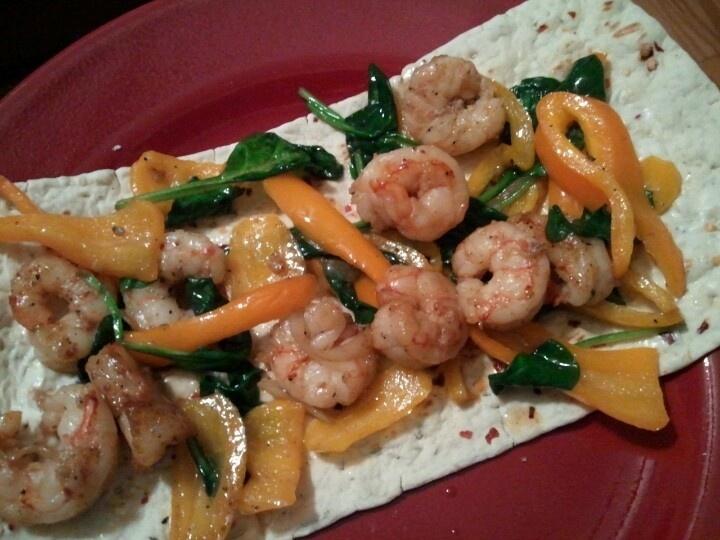Healthy Shrimp Sandwich Wrap With Curry Yogurt & Spinach ...