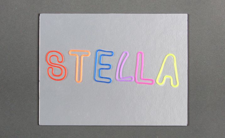 Mccartney ss11 silly bands fluoro silver card purple edging