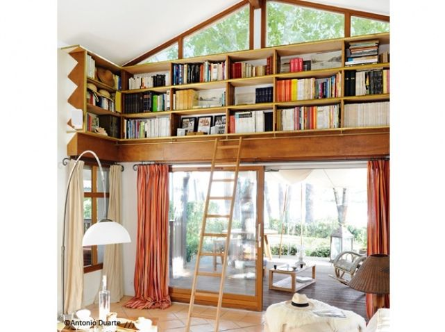 Idee Deco Salon Bibliotheque Originale Maison Pinterest