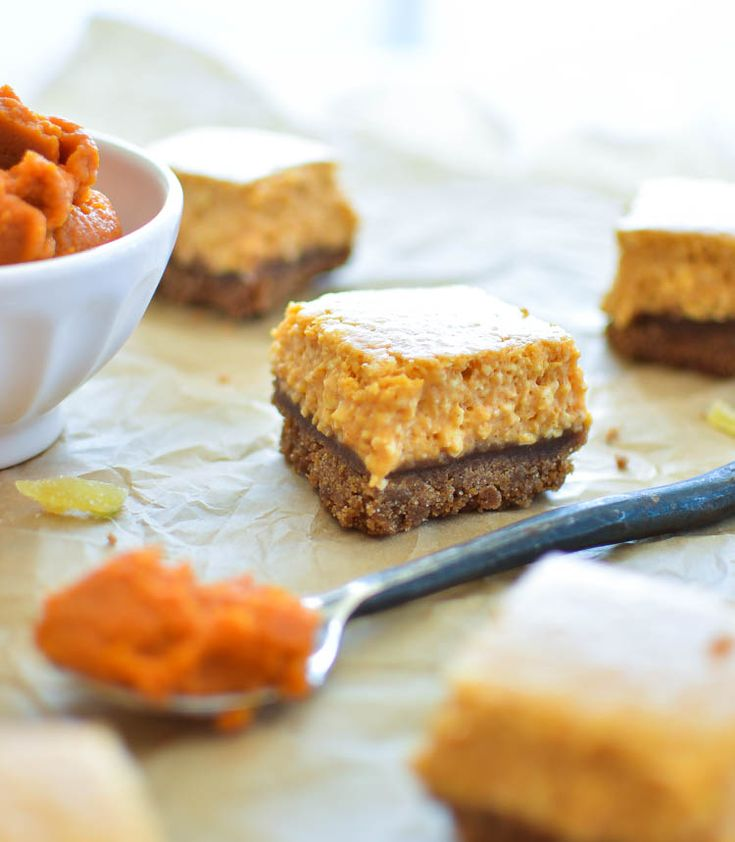 Ginger Pumpkin Cheesecake Bars Paired with a Pumpkin Ale like Uinta ...
