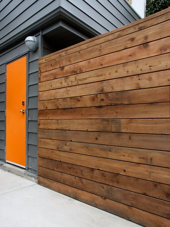 Pin by nina thompson on modern fences pinterest for Garage fence