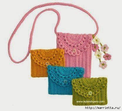 Вязание маленькие сумочки крючком 60