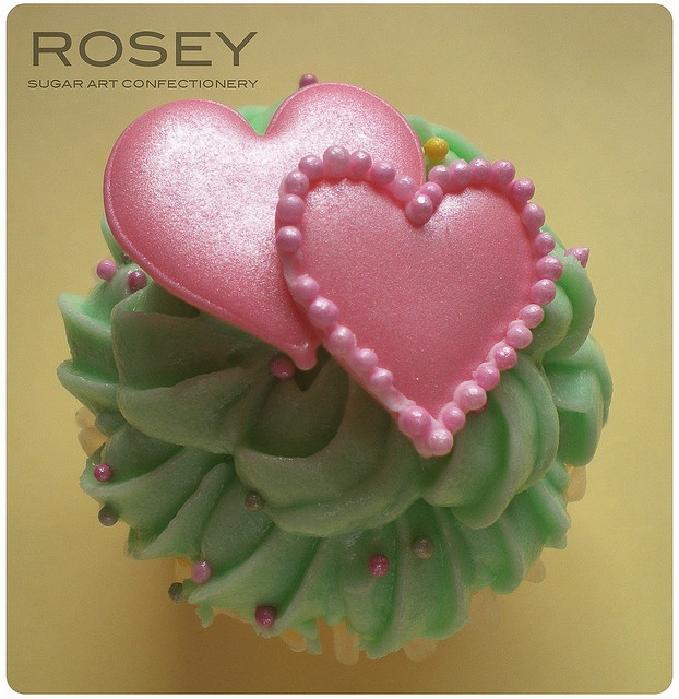 Mini Mini Cupcake -Pink Hearts by rosey sugar, via Flickr