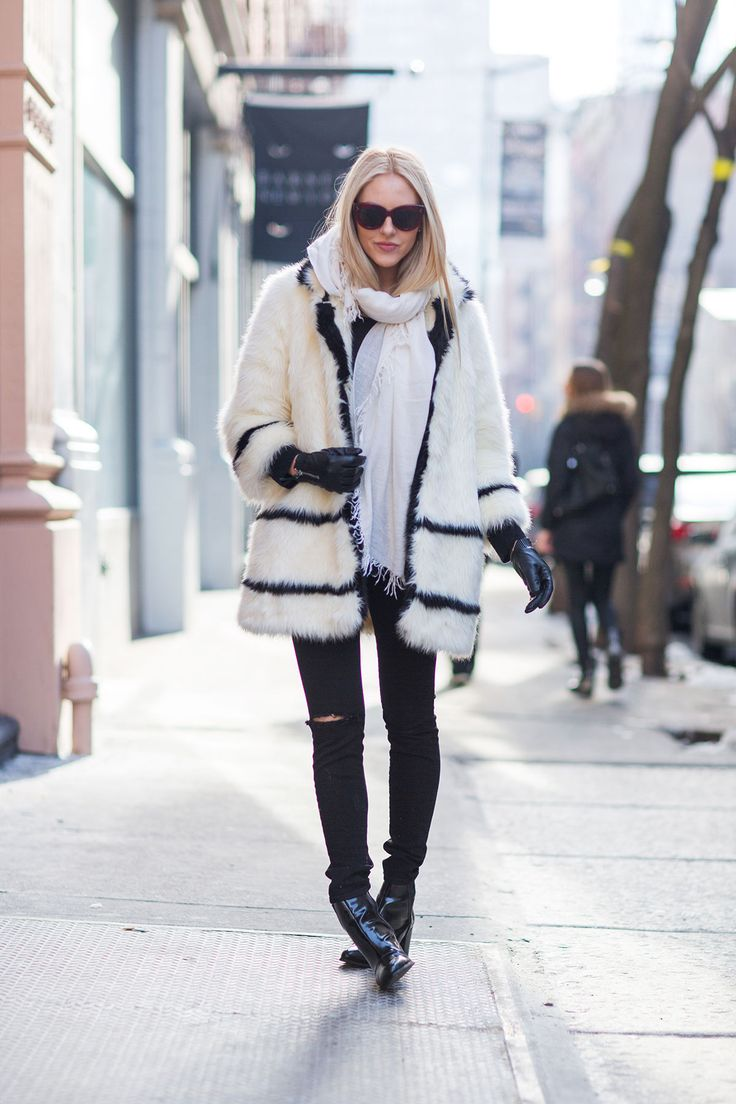 Black, white and warm all over.