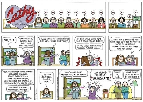 The Cathy strip from comic