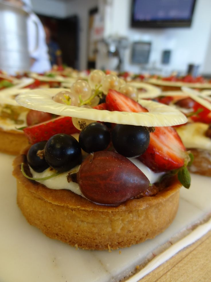 Fresh tart, Vanilla shortcrust, Coconut & almond cream, coconut ...