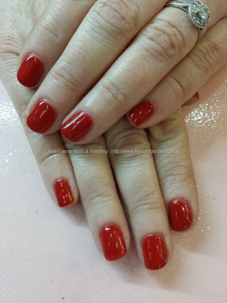 Red gel polish over natural nails | Eye Candy Beautiful Nail Art | Pi