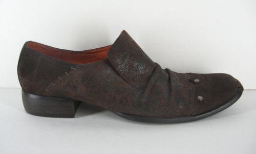 Robert Wayne Footwear Mens 12 M Distressed Suede Fancy Loafer Shoes