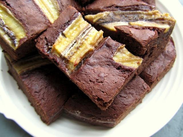Chocolate Banana Brownies - Vegan