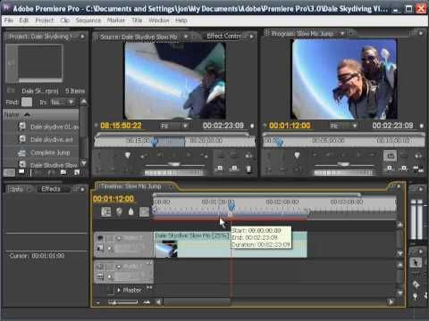 Premiere Pro CS3 Tutorial - SlowMotion   Tutorials - Animation Applic ...