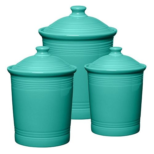 Fiesta Turquoise Canisters Hot Kitchen Tools