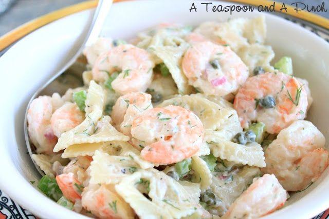 Shrimp and Pasta Salad   yummmmm. recipes :)   Pinterest