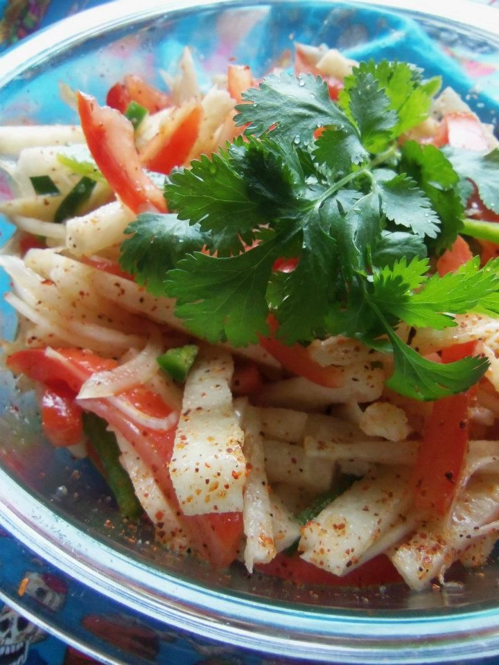 Jicama Salad - Hispanic Kitchen | Southern Recipes | Pinterest