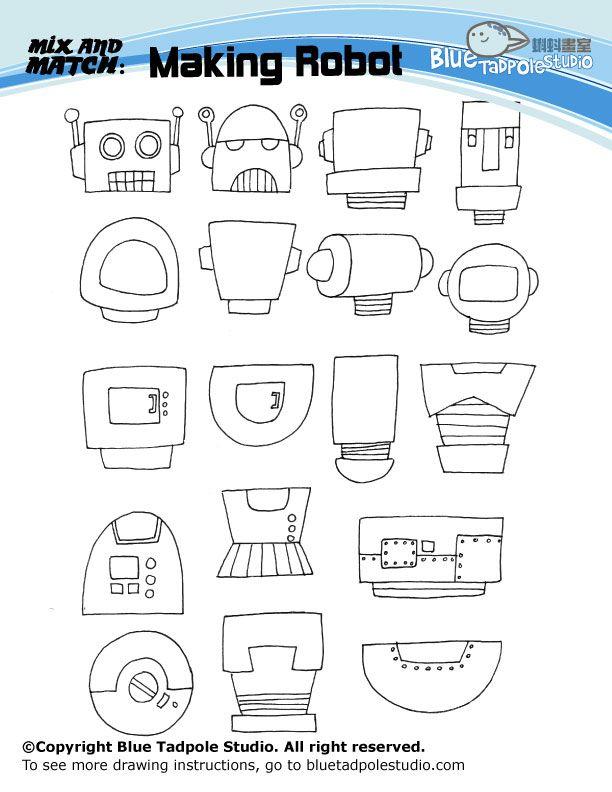 Mix And Match Robots Science Pinterest