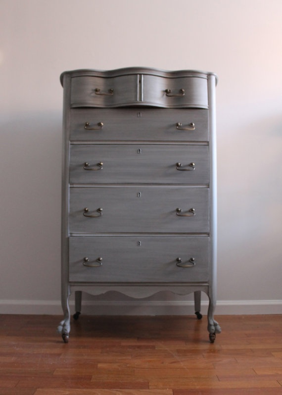 Best Vintage Grey Dresser Chest Of Drawers Bureau 400 x 300