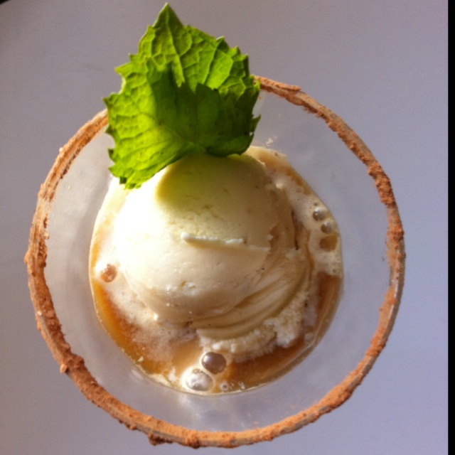 ... Float... Vanilla bean ice cream, ethiopian Ardi cold brewed coffee
