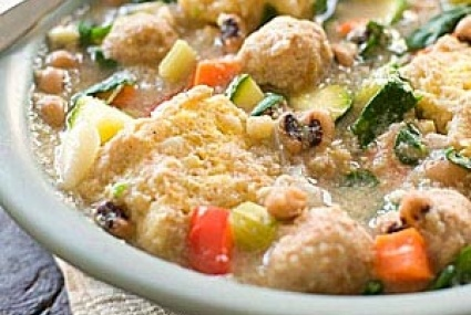 Black-Eyed Pea Soup with Turkey and Cornbread Dumplings | Whole Foods ...