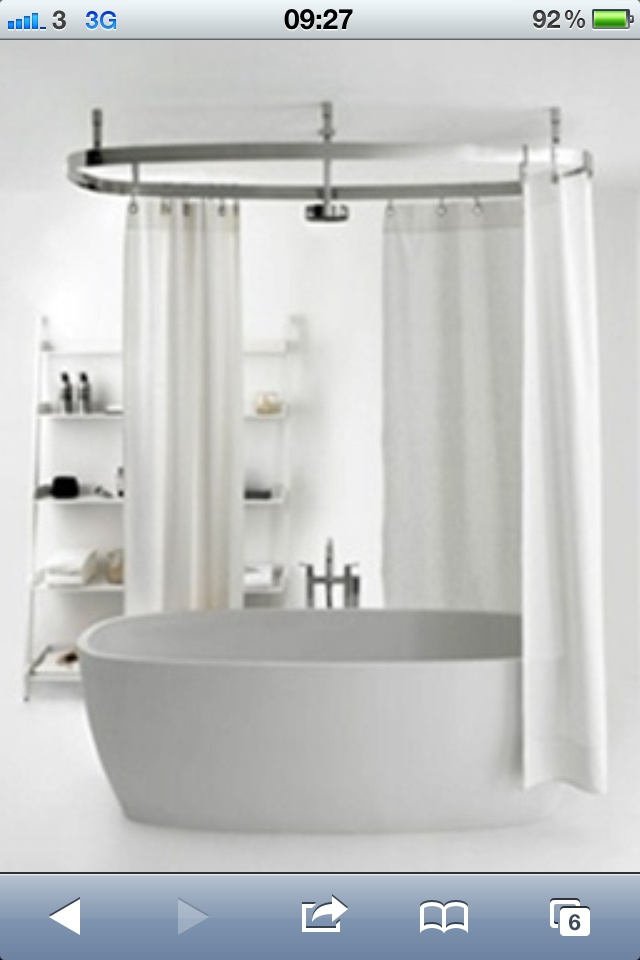 Shower Over Freestanding Bath Bathroom Pinterest