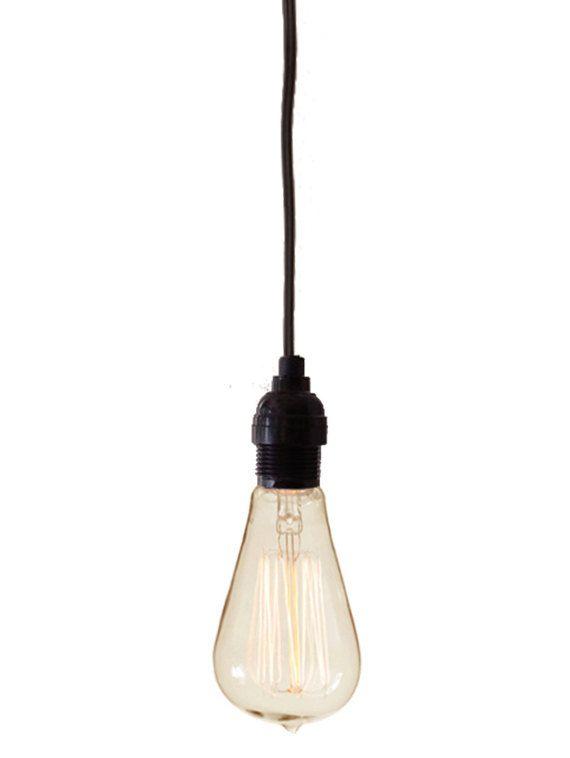 Tesla Bare Bulb Hanging Pendant Light With 15 39 Plug In Cord