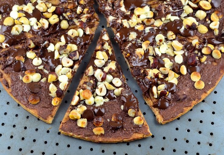 Chocolate Pizza - substitute chocolate chip cookie dough for the pizza ...
