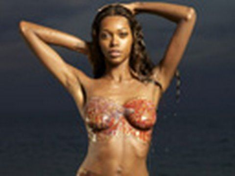 Jessica White Bodypainting, Sports Illustrated Swimsuit 2009