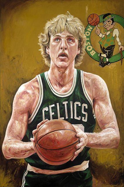 Larry Bird By Justyn Farano | Sports Art | Pinterest