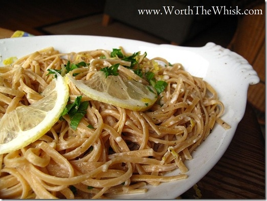 Post image for Lemon and Goat Cheese Pasta