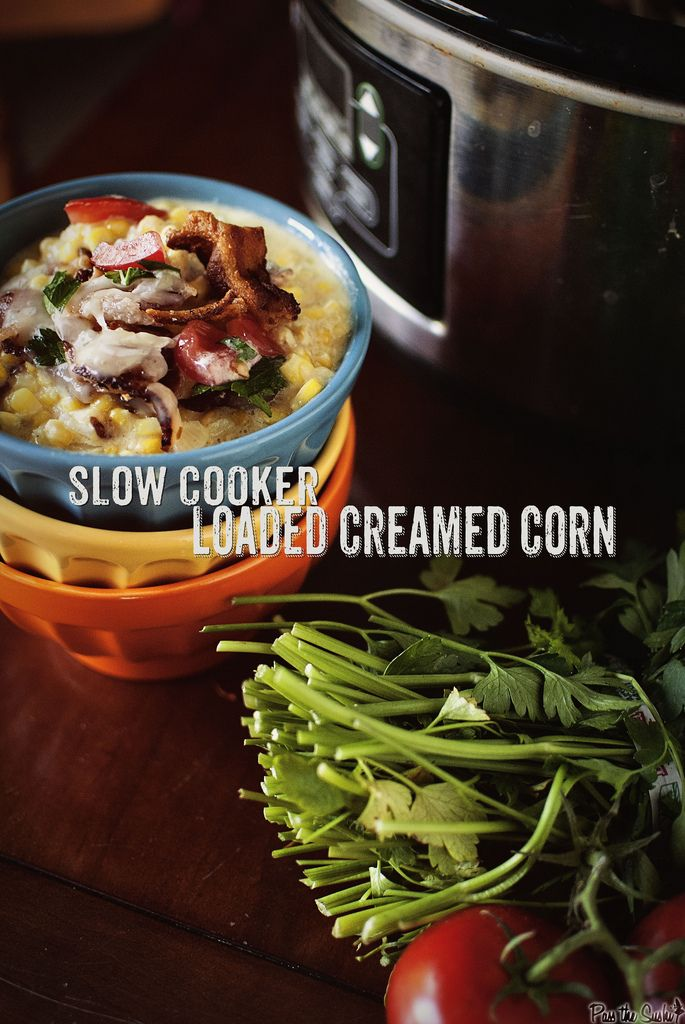 Slow Cooker Loaded Creamed Corn from PasstheSushi.com