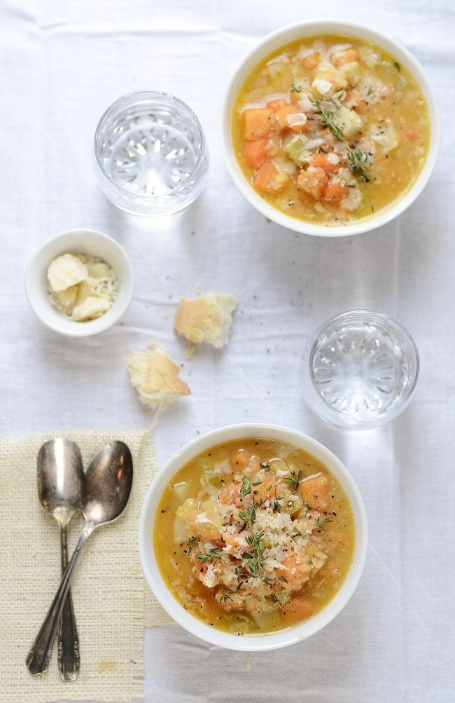 ... try red lentils, and behold! A recipe! Red lentil veggie-table soup