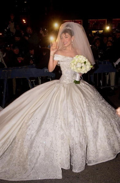 latin wedding dresses illinois wedding downtown preppy colorbloker